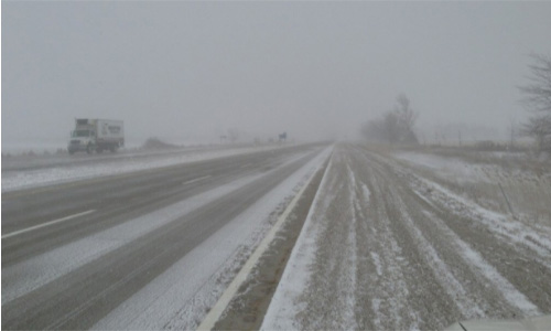 Freezing Rain road condition